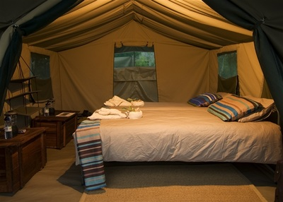 Accommodation at Khwai Tented Camp, Botswana
