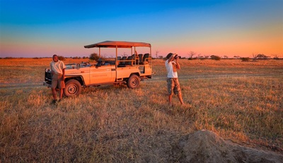 Sunset game drive in Savute, Botswana