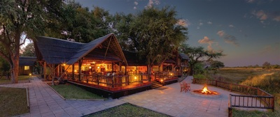 Main area at Khwai River Lodge, Botswana
