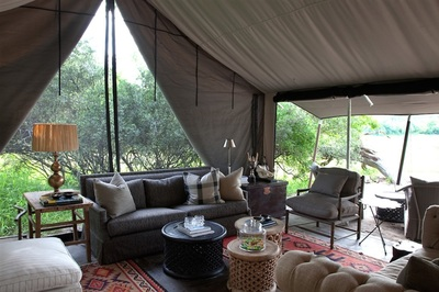 Lounge at Machaba Camp, Botswana