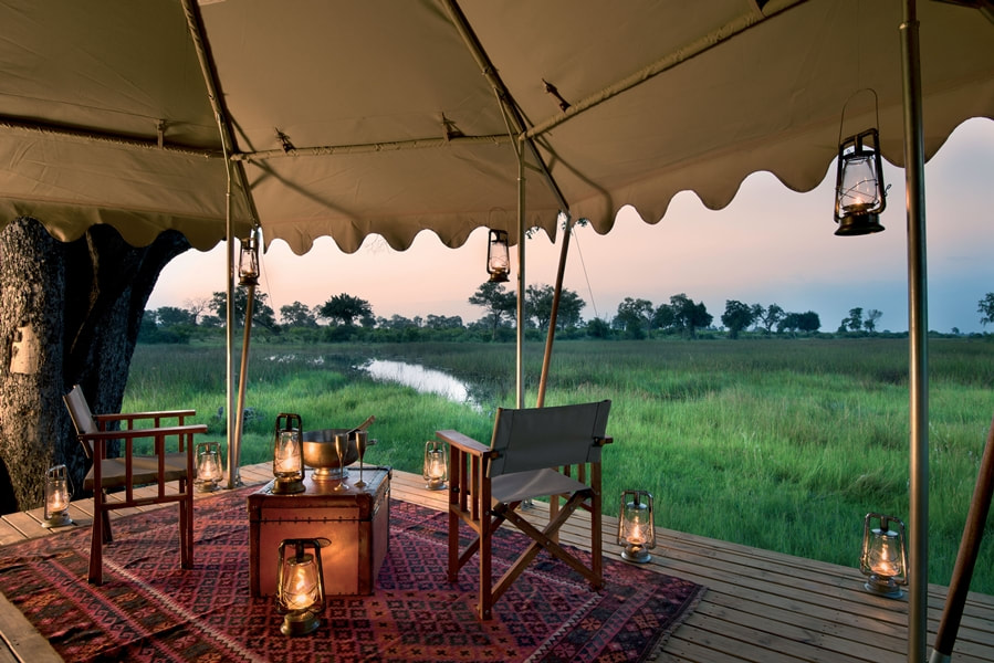 View from your private deck at Duba Explorers, North West Okavango